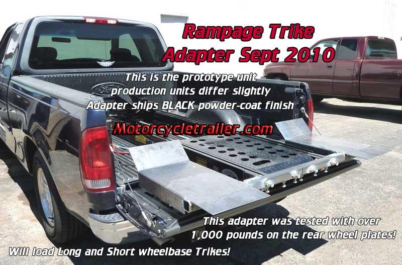 Motorcycle Loading Ramp >> Rampage Lift Trike Adapter Install 1